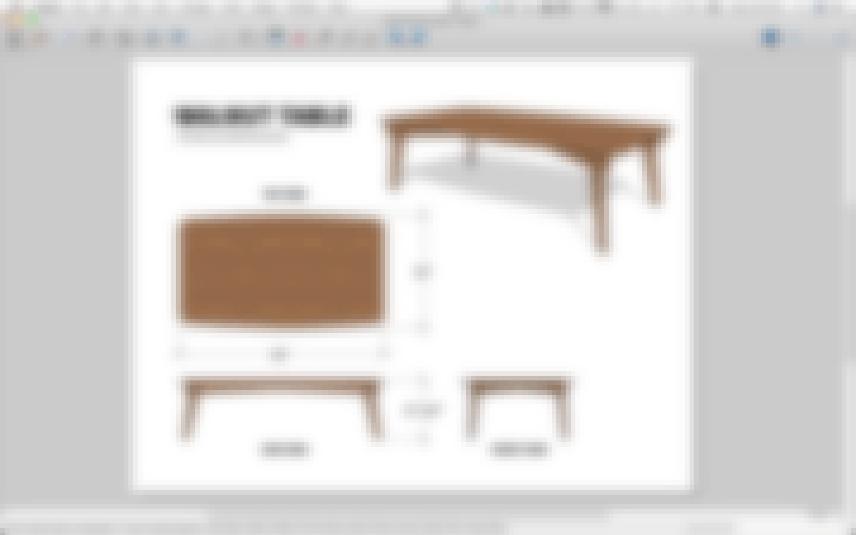 shop drawing of table (views and dimensions)